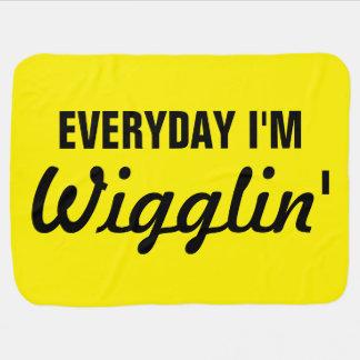 Diario soy Wigglin divertido Manta De Bebé