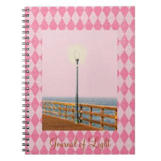 Diario teñido de Argyle del rosa del poste de la l Cuaderno
