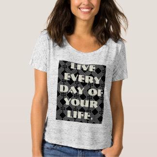 Diario vivo de su vida camiseta