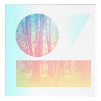 Días azules impresión acrílica