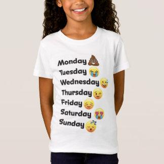 Días de Emoji de la camisa de la semana