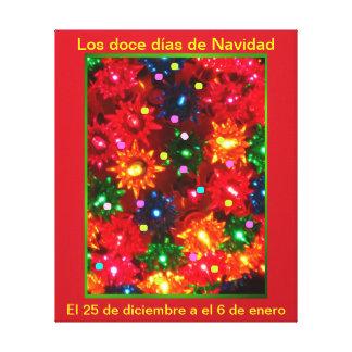Días de Navidad del doce del Los - lienzo Lámina d Impresion De Lienzo