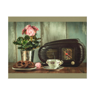 Días del vintage impresión en lienzo
