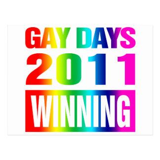Días gay 2011 tarjetas postales