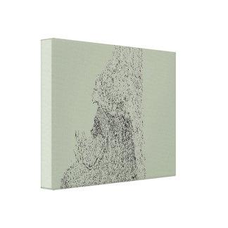 Dibujo abstracto impresión en lienzo