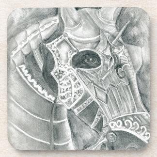 Dibujo acorazado del caballo apoyavasos