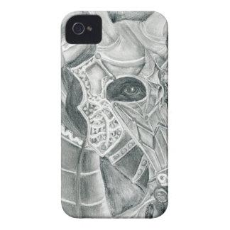 Dibujo acorazado del caballo carcasa para iPhone 4 de Case-Mate