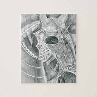 Dibujo acorazado del caballo puzzle
