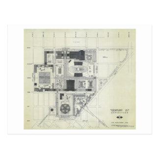 Dibujo aéreo del concepto de la aguja del espacio postal