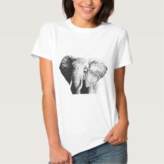 Dibujo africano del elefante de Bush Camisetas