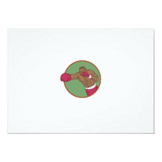 Dibujo afroamericano del círculo del gancho invitación 12,7 x 17,8 cm
