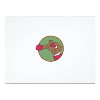 Dibujo afroamericano del círculo del gancho invitación 16,5 x 22,2 cm