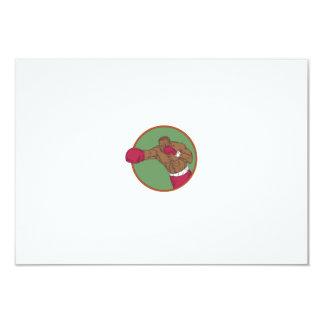 Dibujo afroamericano del círculo del gancho invitación 8,9 x 12,7 cm