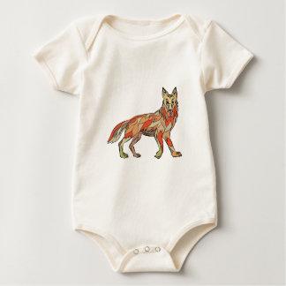 Dibujo aislado lado del coyote body para bebé