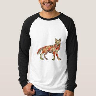 Dibujo aislado lado del coyote camisas