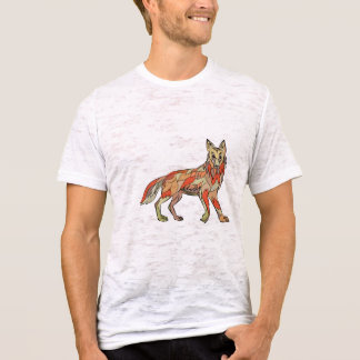 Dibujo aislado lado del coyote camiseta