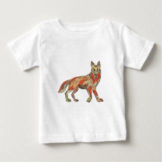 Dibujo aislado lado del coyote camiseta de bebé