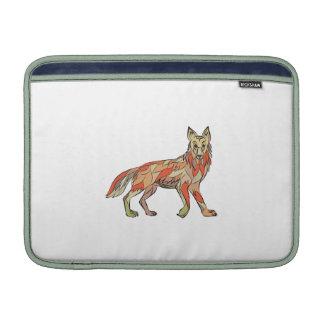 Dibujo aislado lado del coyote fundas MacBook