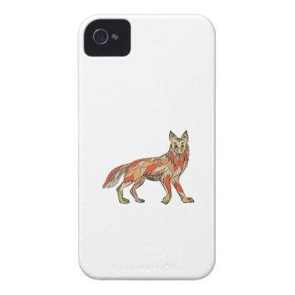Dibujo aislado lado del coyote iPhone 4 cárcasa