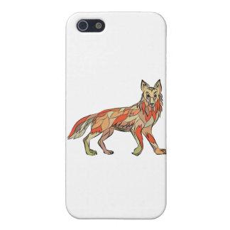 Dibujo aislado lado del coyote iPhone 5 protector