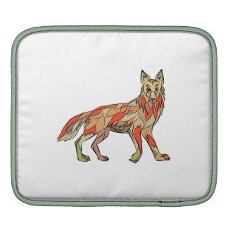 Dibujo aislado lado del coyote mangas de iPad