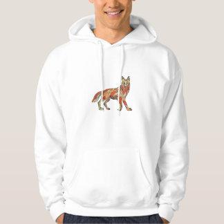 Dibujo aislado lado del coyote sudaderas con capucha