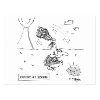 Dibujo animado 2892 de la limpieza en seco postal