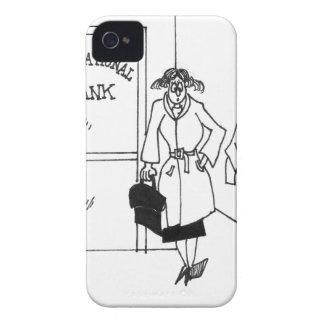 Dibujo animado 3328 del banco carcasa para iPhone 4