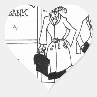 Dibujo animado 3328 del banco pegatina en forma de corazón