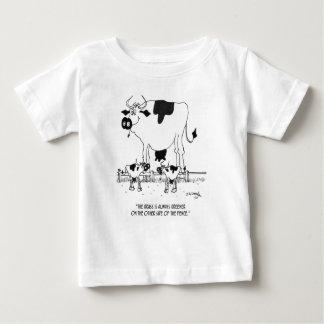 Dibujo animado 3372 de la vaca camiseta de bebé
