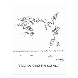 Dibujo animado 4179 de la manicura postal