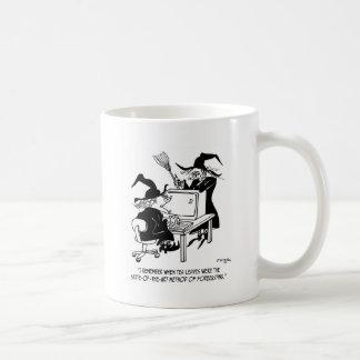 Dibujo animado 4864 de la bruja taza de café