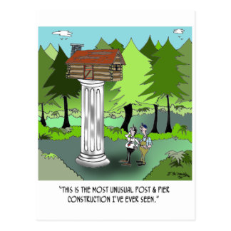 Dibujo animado 6369 de la construcción postal