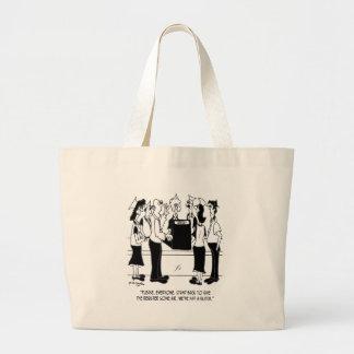 Dibujo animado 8453 del negocio bolso de tela gigante