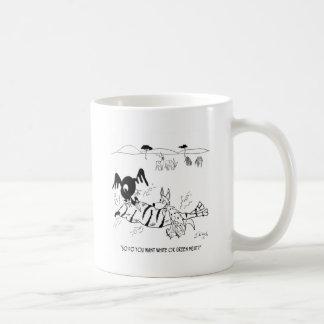Dibujo animado 9339 de la carne taza de café