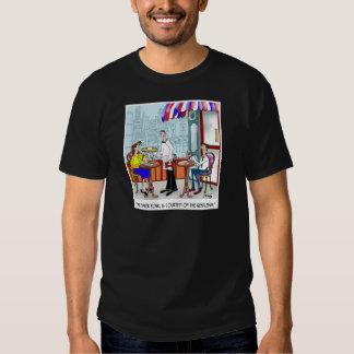 Dibujo animado 9370 del restaurante camisetas