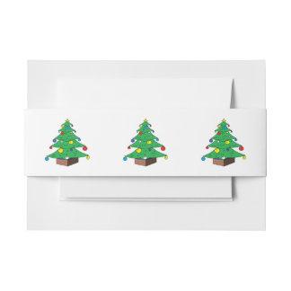 dibujo animado adornado del rbol de navidad cintas para