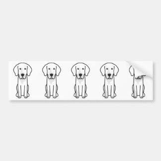Dibujo animado alemán del perro de caza pegatina para coche