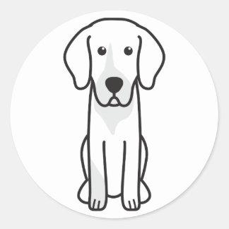 Dibujo animado alemán del perro de caza pegatina redonda