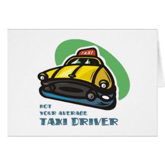 Dibujo animado amarillo del taxi: No su taxista me Felicitacion