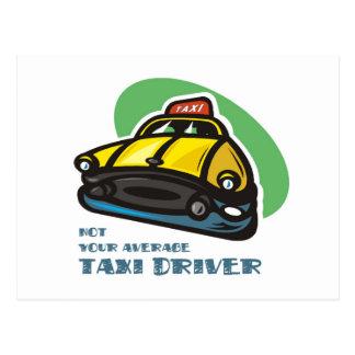 Dibujo animado amarillo del taxi: No su taxista Postal