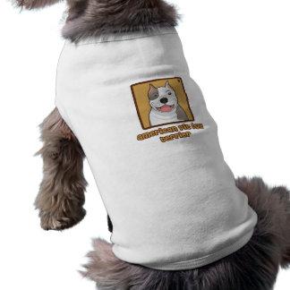 Dibujo animado americano de Terrier de pitbull Ropa Para Mascota