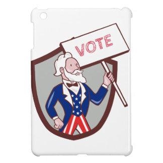 Dibujo animado americano del escudo del voto del