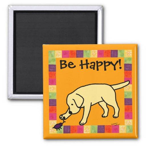 Dibujo animado amistoso Labrador del laboratorio a Iman De Nevera