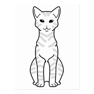 Dibujo animado árabe del gato de Mau Postal