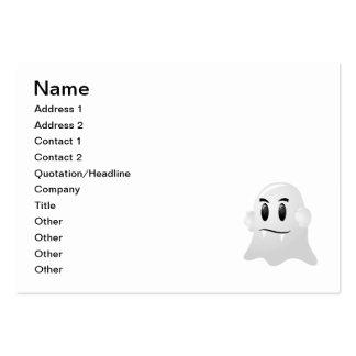 Dibujo animado asustadizo del fantasma tarjetas de visita grandes