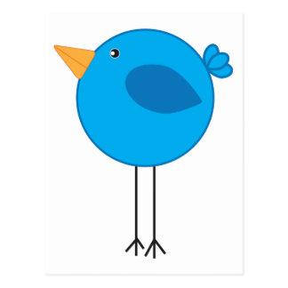 Dibujo animado azul zanquilargo del pájaro