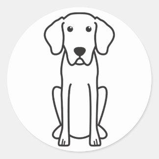 Dibujo animado bávaro del perro de caza de la pegatinas redondas