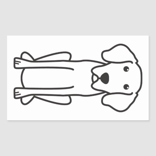 Dibujo animado bávaro del perro de caza de la rectangular pegatinas