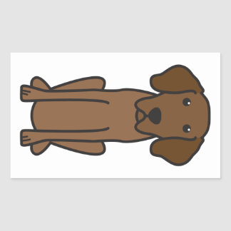 Dibujo animado bávaro del perro de caza de la pegatina rectangular